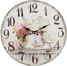 Lily's Home Vintage French Kitchen Wall Clock,