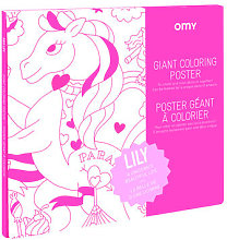 Lily Colouring poster - / 100 x 70 cm by OMY