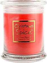 Lily Flame Christmas Spice Candle Jar, White