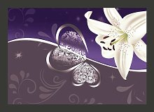 Lily in Shades 2.45m x 350cm Wallpaper East Urban
