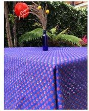 Lily King - Dot Hand Blocked Tablecloth - Indigo -