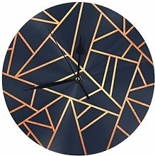 Lilyo-ltd Copper and midnight navy Round Wall