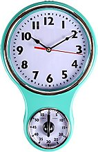 LilysHome Retro Kitchen Timer Wall Clock, Bell