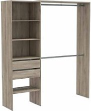 Limano 3 Shelves 2 Drawers Closet Organizer In
