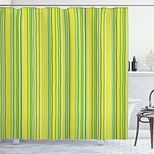 Lime Green Shower Curtain, Pastel Toned Vertical