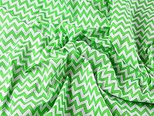 Lime Green / White - 1/2 Meter | 6mm CHEVRON