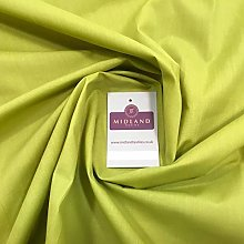 Lime PolyCotton Fabric - Dress Craft 44 Inch Wide