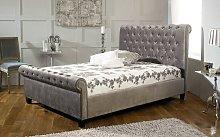 Limelight Orbit Fabric Bed Frame, Double, Velvet
