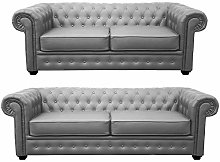 Limitless Home Chesterfield 3+2 Seater Grey