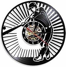 LIMN Record Wall Clock Baseball Playing Vinyl Wall