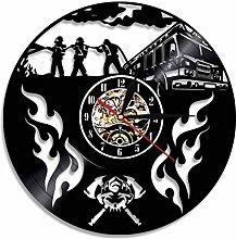 LIMN Record Wall Clock Firefighter Vinyl Record