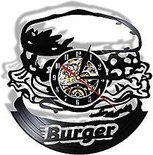 LIMN Record Wall Clock Hamburger Kitchen Vinyl LP