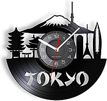 LIMN Record Wall Clock Japan Tokyo Skyline