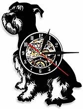 LIMN Record Wall Clock Mini Schnauzer Dog Canine