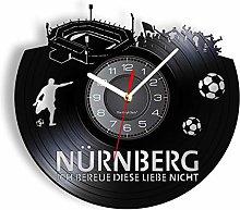 LIMN Record Wall Clock Nurnberg Stadium Skyline