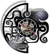 LIMN Record Wall Clock Octopus LED Night Light
