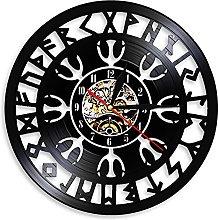 LIMN Record Wall Clock Viking Compass Wall Clock