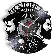 LIMN Vinyl Clock Barber Shop Wall Clock Made Of