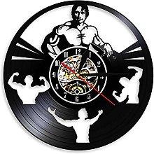 LIMN Wall Clock Bodybuilding Art Decorative Wall
