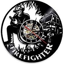 LIMN Wall Clock Firefighter Wall Clock Fire