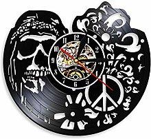 LIMN Wall Clock Hipper Skull With Followers Wall