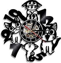 LIMN Wall Clock Lovely Kitty Artwork Decor Wall