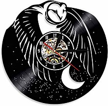 LIMN Wall Clock Owl Silhouette Shadow Wall Clock