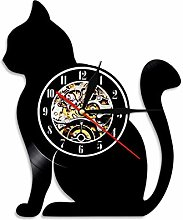 LIMN Wall Clock Sitting Cat Silhouette Wall Clock