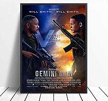 linbindeshoop Gemini Man posters Canvas Print