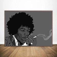 linbindeshoop Jimi Hendrix Poster Canvas Print
