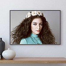 linbindeshoop Lorde Poster Canvas Print Paintings