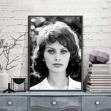linbindeshoop SOPHIA LOREN Poster Canvas Print