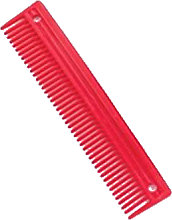 Lincoln Plastic Comb (One Size) (Red)