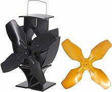 Lincsfire 4 Blades Heat Powered Black Mini Stove