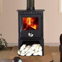 Lincsfire Reepham 6.5KW High Efficiency Log Burner Wood Burning WoodBurner MultiFuel Fireplace
