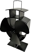 Lincsfire Stove Fan 3 Blade Heat Powered for