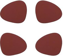LIND DNA - Nupo Curve Table Mat - Set of 4 - Red
