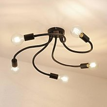 Lindby Aurina ceiling light, 5-bulb