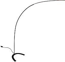 Lindby - Danua LED arc floor lamp in black