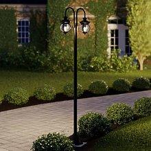 Lindby Farley post light, 2-bulb