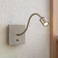 Lindby Legera LED wall reading lamp, flexible arm