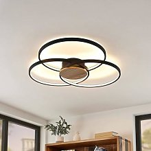 Lindby Riley LED ceiling light dimmable black