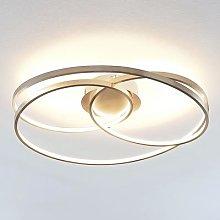 Lindby Ronka LED ceiling light, satin nickel