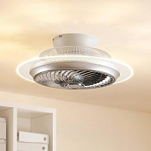 Lindby Yolina LED ceiling fan with light