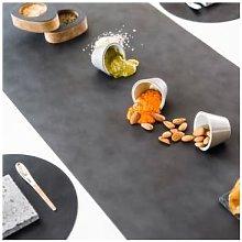LindDNA - Desk Runner - leather | Anthrazite