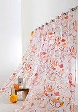 Linder Curtain, Printed, with Eyelets orange