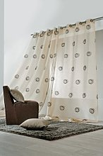 Linder Cyclone Embroidered Eyelet Curtain Beige Et