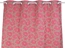 Linder Flower Curtain with Eyelets 135x 260cm