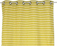 Linder Geometric Patterns Curtain with Eyelets