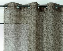 Linder Net Curtain with Small Flower Design,